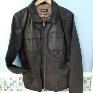 Danier women Genuine brown leather jacket